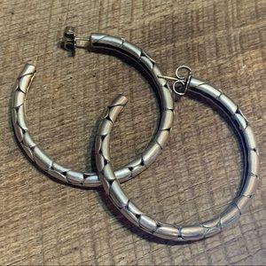 John Hardy 925 Large Kali Pebble Hoop Earrings